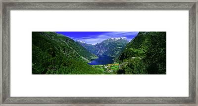 Geirangerfjord, Flydalsjuvet, More Og Framed Print by Panoramic Images