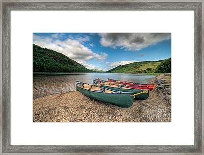 Geirionydd Lake Framed Print by Adrian Evans