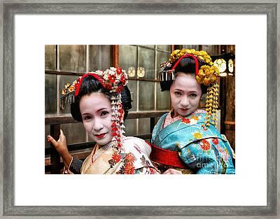 Geisha 2 Framed Print by John Swartz