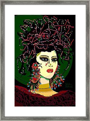 Geisha 6 Framed Print by Natalie Holland