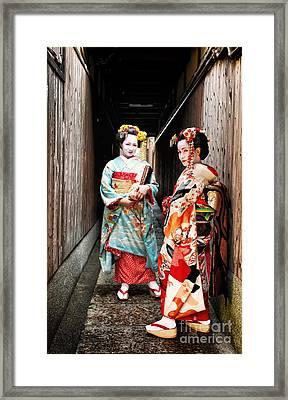 Geisha Alley Framed Print by John Swartz