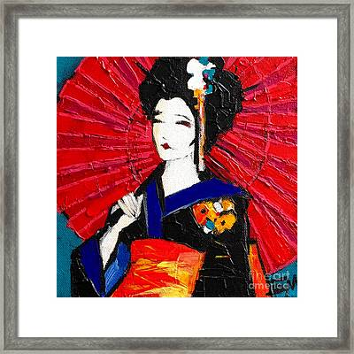 Geisha Framed Print by Mona Edulesco