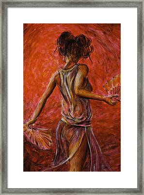 Geisha Fan Dance 02 Framed Print