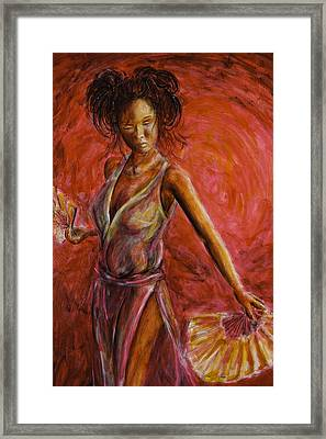 Geisha Fan Dance Framed Print