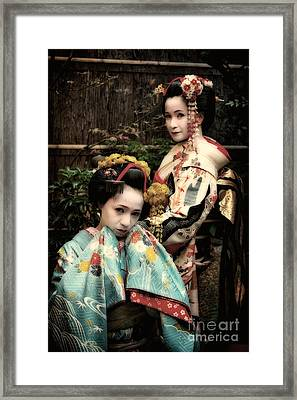 Geisha Garden Framed Print by John Swartz