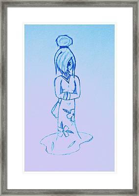 Geisha Girl 2 Framed Print by Denise Honaker