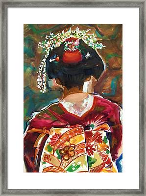 Geisha Girl Framed Print by Therese Fowler-Bailey