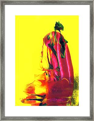 Geisha Framed Print by Modern Art Prints