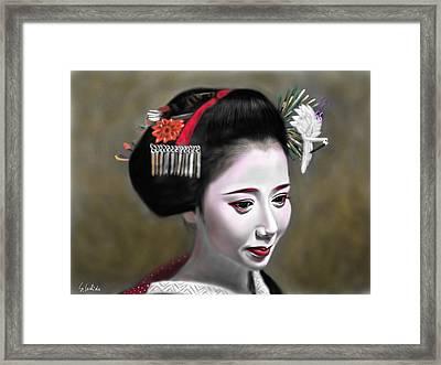 Geisha No.145 Framed Print by Yoshiyuki Uchida