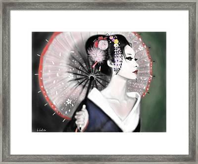 Geisha No.151 Framed Print by Yoshiyuki Uchida