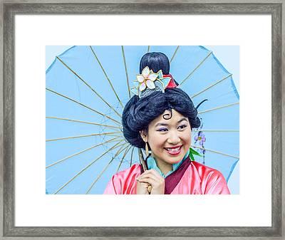 Geisha Framed Print by Pamela Schreckengost