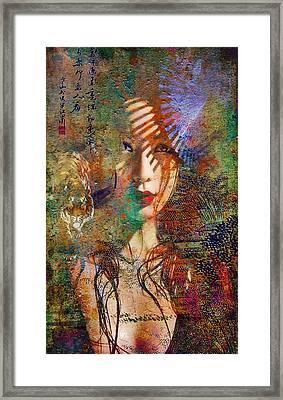 Geisha Print Framed Print by Greg Sharpe