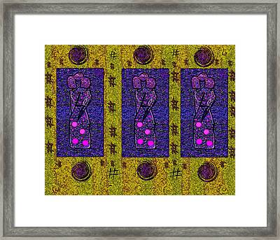 Geishas In The Art And Popart Framed Print