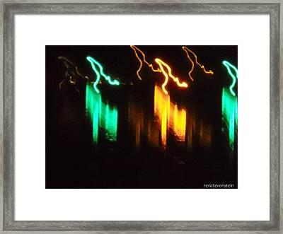 Geister Hirsche Framed Print by Renate Hirschmair