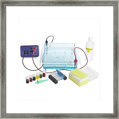 Gel Electrophoresis Equipment Framed Print by Science Photo Library