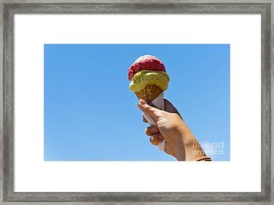 Gelati Ice Cream Cone Framed Print by Tim Hester