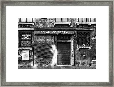 Gelati Ice Cream Framed Print by John Rizzuto