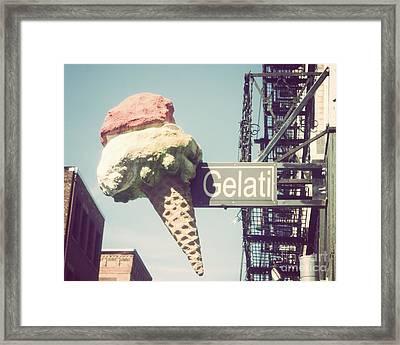 Gelati Framed Print by Jillian Audrey Photography