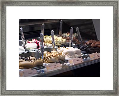 Gelato Framed Print by Rona Black