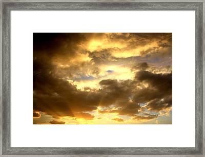 Gelato Sky Framed Print