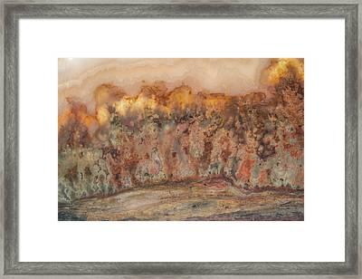 Gem Stone Framed Print by Leland D Howard