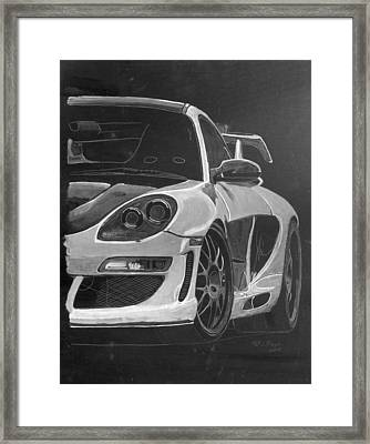 Framed Print featuring the painting Gemballa Porsche Left by Richard Le Page