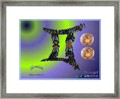 Framed Print featuring the digital art Gemini by The Art of Alice Terrill