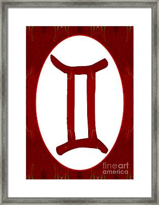 Gemini And Root Chakra Abstract Spiritual Artwork By Omaste Witk Framed Print by Omaste Witkowski