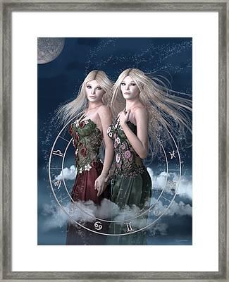 Gemini Framed Print by Britta Glodde