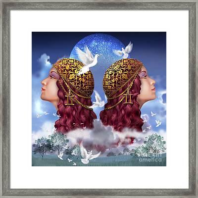 Gemini Framed Print