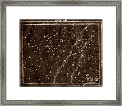 Gemini Constellation Zodiac 1799 Framed Print by US Naval Observatory Library