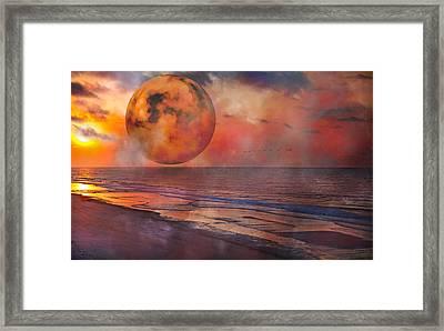 Gemini Rise Framed Print by Betsy Knapp