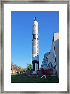 Gemini Titan Rocket At Kansas Cosmosphere Framed Print