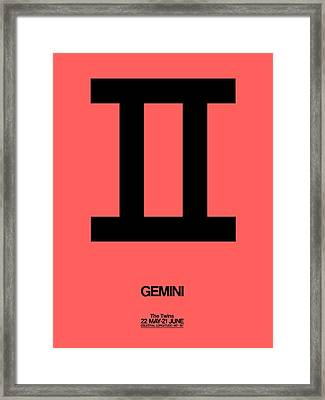 Gemini Zodiac Sign Black Framed Print