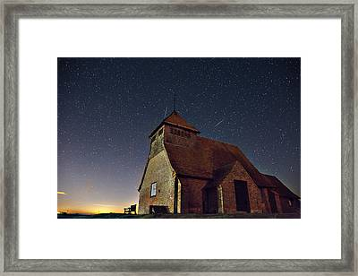 Geminid Meteor Fairfield Framed Print by Simon Gray