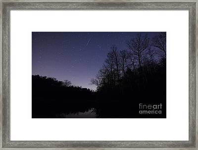 Geminid Meteor Framed Print by Jonathan Welch