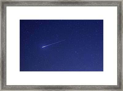Geminid Meteor Framed Print by Luis Argerich