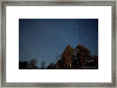 Geminid Meteor Shower 2012 Framed Print