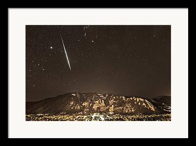 Geminids Meteor Shower Framed Prints