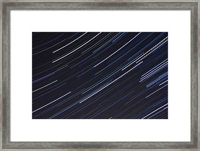 Geminid Star Trails Framed Print by Claus Siebenhaar