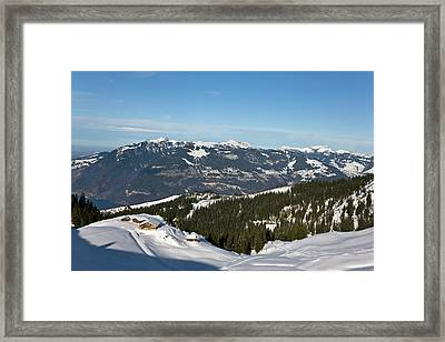 Gemmenalphorn In The Bernese Alps Seen Framed Print by Martin Zwick