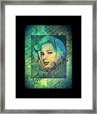 Gena Rowlands Framed Print by Absinthe Art By Michelle LeAnn Scott