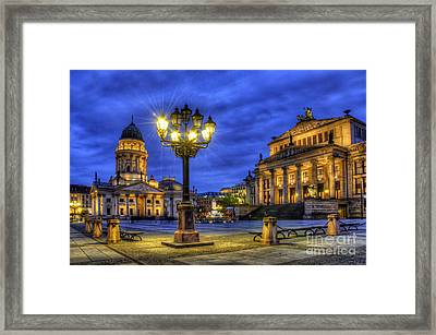 Gendarmenmarkt Berlin At Night Framed Print by Colin Woods