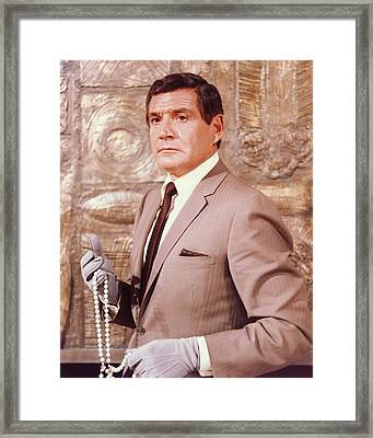 Gene Barry In The Name Of The Game Framed Print by Silver Screen
