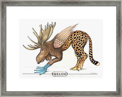 Gene Monster Number 9 - Cartoon Framed Print by Art America Gallery Peter Potter