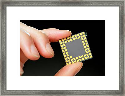 Gene Sequencing Chip Framed Print by James Gathany/cdc