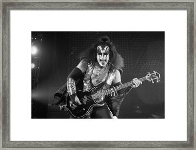 Gene Simmons Framed Print by Timothy Bischoff