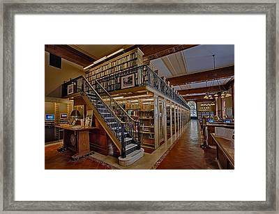 Genealogy Room Ny Public Library Framed Print by Susan Candelario