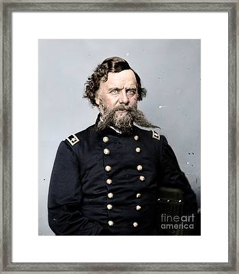 General Alpheus S Williams Framed Print by Celestial Images