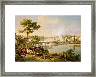 General Bonaparte Giving Orders At The Battle Of Lodi Framed Print by Louis Lejeune